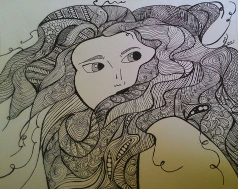 Zentangle Girl