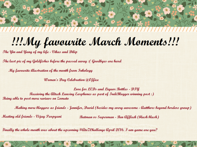 ECHOES – MARCH MOMENTS
