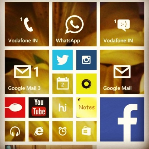 Apps that I use daily a hundred times...all tiled up on my windows phone for easy access...includes #twitter #WhatsApp #facebook #alarm #notes #messages #calls #Ola #YouTube.