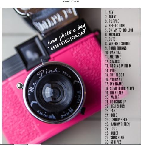 JUNE FMSPHOTOADAY Challenge