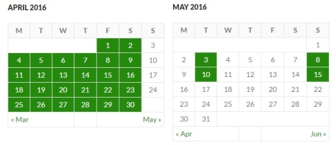 Post Calendar